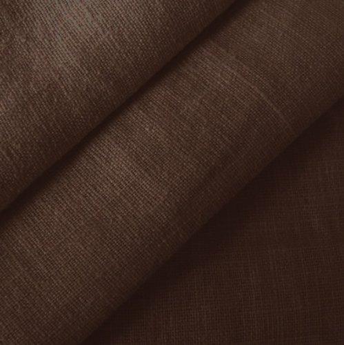 STOFFKONTOR 100% Leinenstoff - edler Naturstoff - vorgewaschen - Meterware, dunkel-braun - zum Nähen von Kleidern, Röcken, Trachtenmode