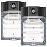 30W LED Wall Pack Light with Photocell, 3450LM 5000K Daylight Dusk to Dawn LED Outdoor Wall Mount Light, 150-250W MH/HPS Replacement, Waterproof Security Lighting-2 Pack