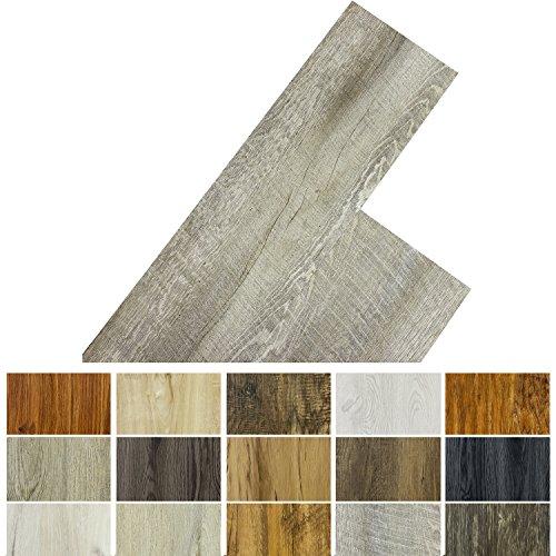 STILISTA Vinyl Laminat Dielen, 15 Dekors wählbar, 5,07m² oder 20m², rutschfest, wasserfest, schwer entflammbar - 20m² Eiche rustikal