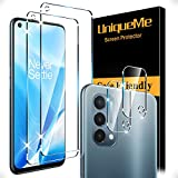 [2+2 Pack] UniqueMe Compatible with OnePlus Nord N200 5G Screen Protector Tempered Glass and Camera Lens Protector [HD Clear][Anti-Scratch]