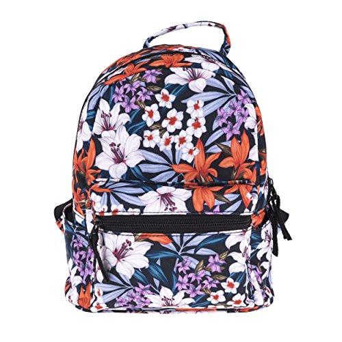 Fringoo Women's Girls Mini Backpack Fashion Travel Small Hand Luggage School Handbag (Tropical Purple Flower - mini)