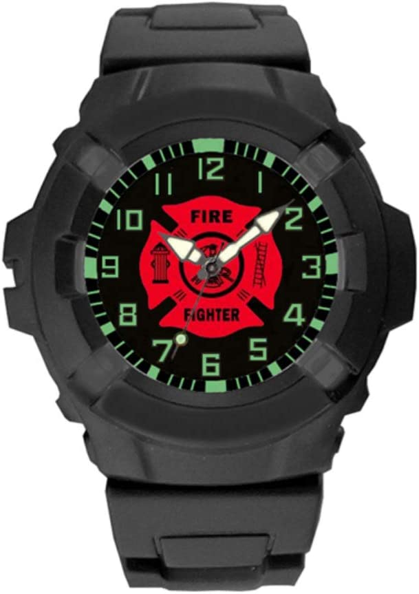 Aqua Force Firefighters Logo 47mm Diameter Quartz Watch