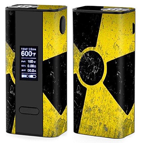 Skin Decal Vinyl Wrap for Joyetech Cuboid 150W TC watt Vape Mod Box / Bio Hazard zombie