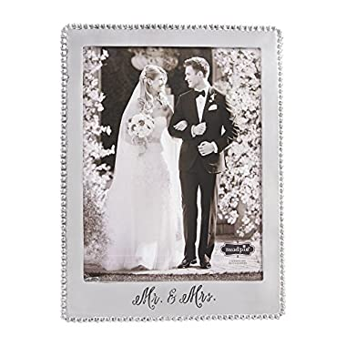 Mud Pie Mr. and Mrs. Beaded Frame Photo, 8 x 10
