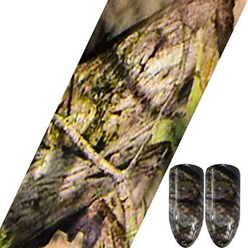 Nagel Sticker,Transparente Glitzerfolien Nail Art Sticker, 3D Holo Hohlspinnennetz Nail Designs für DIY Basteln, 100x4cm, C UESD5