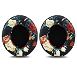 Beats Studio 2/3 Replacement Earpads,Protein Leather/Memory Foam Ear Cushion Pads Cover Ear Cups for Beats Studio 2.0 Wired/Wireless B0500/B0501 & Studio 3.0 Over Ear Headphones,Floral Black