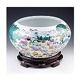 LZQHGJ XIAOYU- Jarrón de Regalo Creativo Florero de cerámica Blanco Moderno Minimalista Minimalista Enchufe Flor Continental Muebles para el hogar Gold Rim Jase Crafts (Tamaño: M) (Color : B)