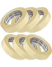 ETI Masking Tape for Carpenters & Painters 1 Tube : 6 Rolls of 24mm X 20Mtr Each