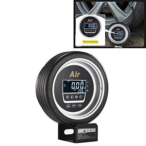 outingStarcase Ajuste de la presión de neumático Duradero automático Digital automático LCD for inflar con Aire de múltiples Funciones