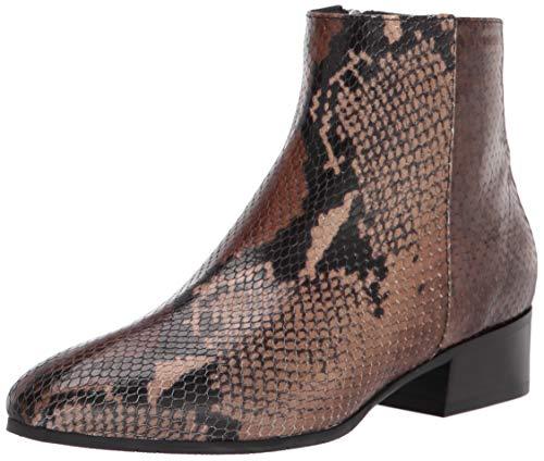 Aquatalia Women's Fuoco Snake Print Ankle Boot, Brown, 7