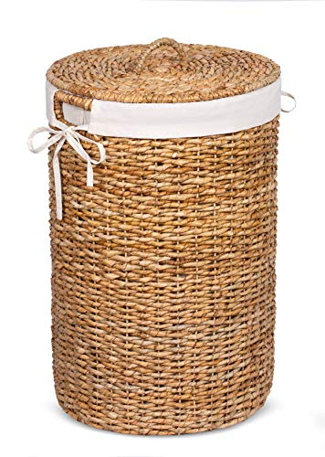 wicker hamper with liner and lid - 3