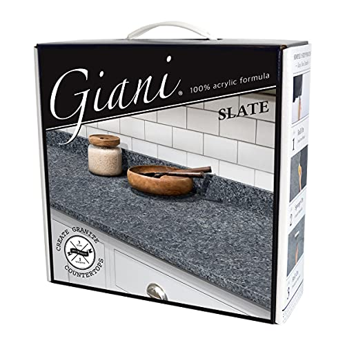 Giani Granite Countertop Paint Kit 2.0- 100% Acrylic (Slate)