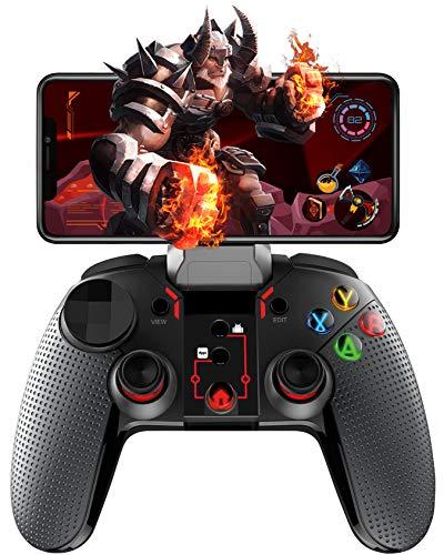topp GAMING Smartphone Controller 'Lucifer' mit bis zu 10 h Laufzeit, individuell einstellbarer Tastenbelegung und beleuchteten Tasten - Android Support - Schwarz