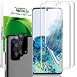 [4 Pack] Tamoria Galaxy S20 Screen Protector + Camera Protector Tempered Glass Silk-Screen 4th Generation TPU Film with Installation Kit Ultrasonic Fingerprint Compatible for Samsung Galaxy S20 5G