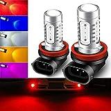 KaiDengZhe 2pcs SUPER Bright Red H11/H8 LED Bulbs for Fog Lights 7.5W COB Fog Lamp Driving DRL Lights 12V