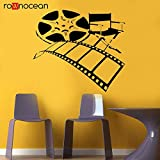 HNXDP Film Filmregisseur Heimkino Schauspieler Filmband Stuhl Wohnheim Büro Wandtattoo Vinyl...
