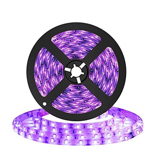 Striscia UV a luce nera a LED, Striscia di luce nera flessibile Lemonbest 16.4ft 5m 12V per retroilluminazione domestica