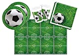 Procos 10110948B Partyset Fußball, Größe S, 53 teilig