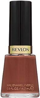 Esmalte de uñas Revlon resistente a astilladuras, acabado brillante en color nude/marrón, 415 Totally Toffee, 14 oz
