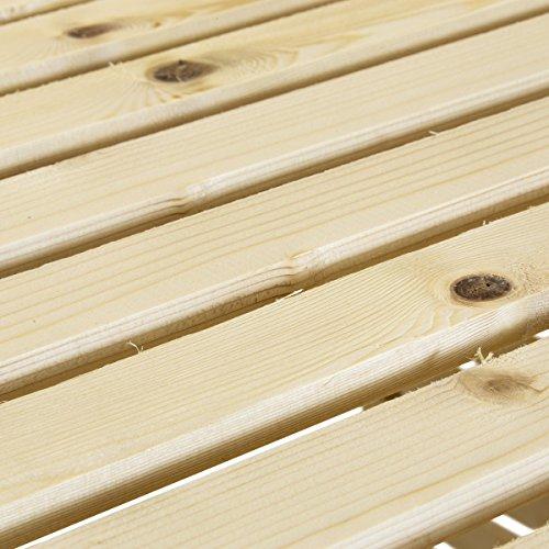 Charles Bentley – Mülltonnen-Verkleidung aus natürlichem Fichtenholz – für 2 Tonnen - 3