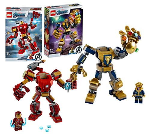 Legoo Lego Marvel Avengers Set: Thanos Mech (76141) + 76140 Iron Man Mech, ab 6 Jahren