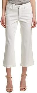 NYDJ Womens M77Z1307 Women's Pleat Back Knit Blouse in Black Jeans - White