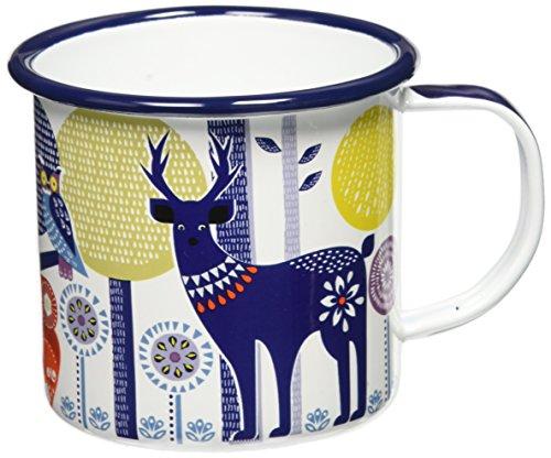 Folklore Day Design Enamel Camping Coffee Mug