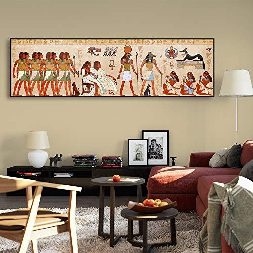oioiu Vintage Mythologie Legende Ägypten Königin Cleopatra Gebet Glaube Poster Leinwand Malerei Pharao HD Druckbild Wandbild Wohnzimmer Dekoration