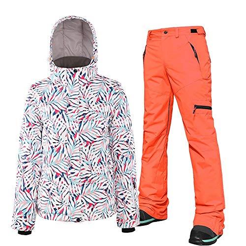 BXGZXYQ Doppelbrett Snowboard Anzug Damen Anzug Damen wasserdichte Erwachsene Skijacke Hosen-Anzug der Frauen Mäntel (Farbe : 2, Size : M)