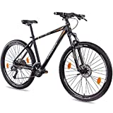 CHRISSON 27,5 Zoll Mountainbike Hardtail - Cutter 3.0 schwarz orange 46 cm - Hardtail Mountain Bike...