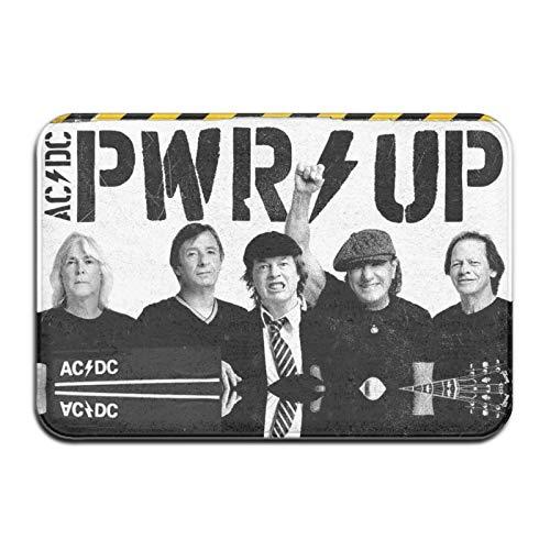 Heavy metal punk Larry Van Kriedt Black Ice Burn Out AC-DC alfombra atrapasueños anti-moho arte durable sala de estar