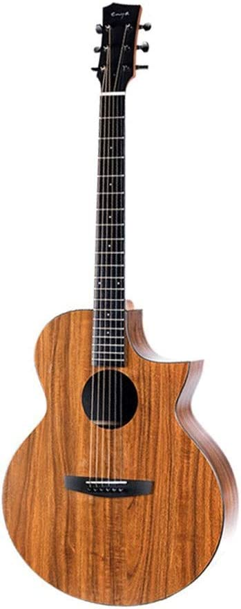 Boll-ATur 41 pulgadas guitarra acústica Acacia Tecnología ébano Diapasón artesanal acústica Cutaway Guitarra Profesional Set W/Case, correa, digital S-Tuner, Pick, Pitch Pipe, Cuerdas