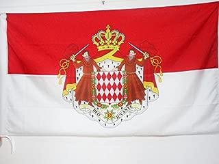 AZ FLAG Monaco Coat of arms Flag 3' x 5' for a Pole - Monégasque - Monacans Flags 90 x 150 cm - Banner 3x5 ft with Hole