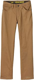LEE Boys' Straight Fit Straight Leg Performance Comfort Stretch Pants Jeans