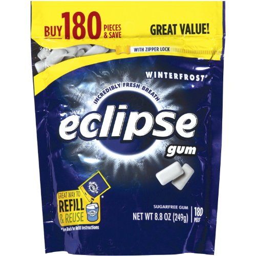 Eclipse Gum Winterfrost 180 Piece 8.8 Ounce (Pack of 2)