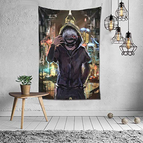 Hdadwy 3d Print Tokyo Ghoul Ken Kaneki Mural Art Tapestry Wall Hanging Tapestries Bedroom Home Tapestry 60x40 Inches Tapestry Fashion Decorations Living Room Bedroom Dorm Decor Tapestry