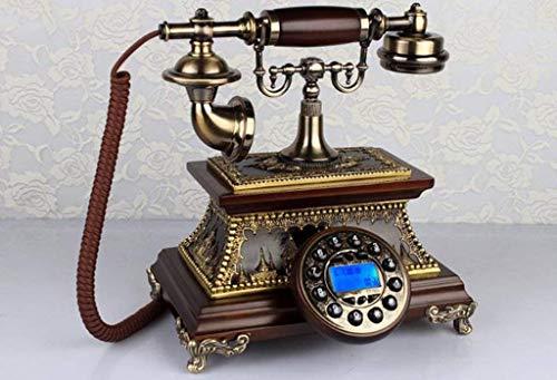 Dirgee Teléfono Antiguo, Teléfono Retro Europeo/Estilo Final de Madera Sólida/Vintage Gorra/Sala de...