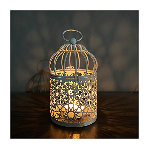 Binghai Candelabro romántico de hierro forjado antigüedades a prueba de viento colgar candelabro para el jardín del hogar