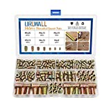 URLWALL 165PCS Threaded Inserts Nuts, Wood Insert Assortment Tool Kit, M4/M5/M6/M8 Furnitu...