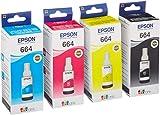 EPSON Original Refill Ink Set (T6641 T6642 T6643 T6644) for L100 L110 L120 L200 L210 L300 L350 L355 L550 L555