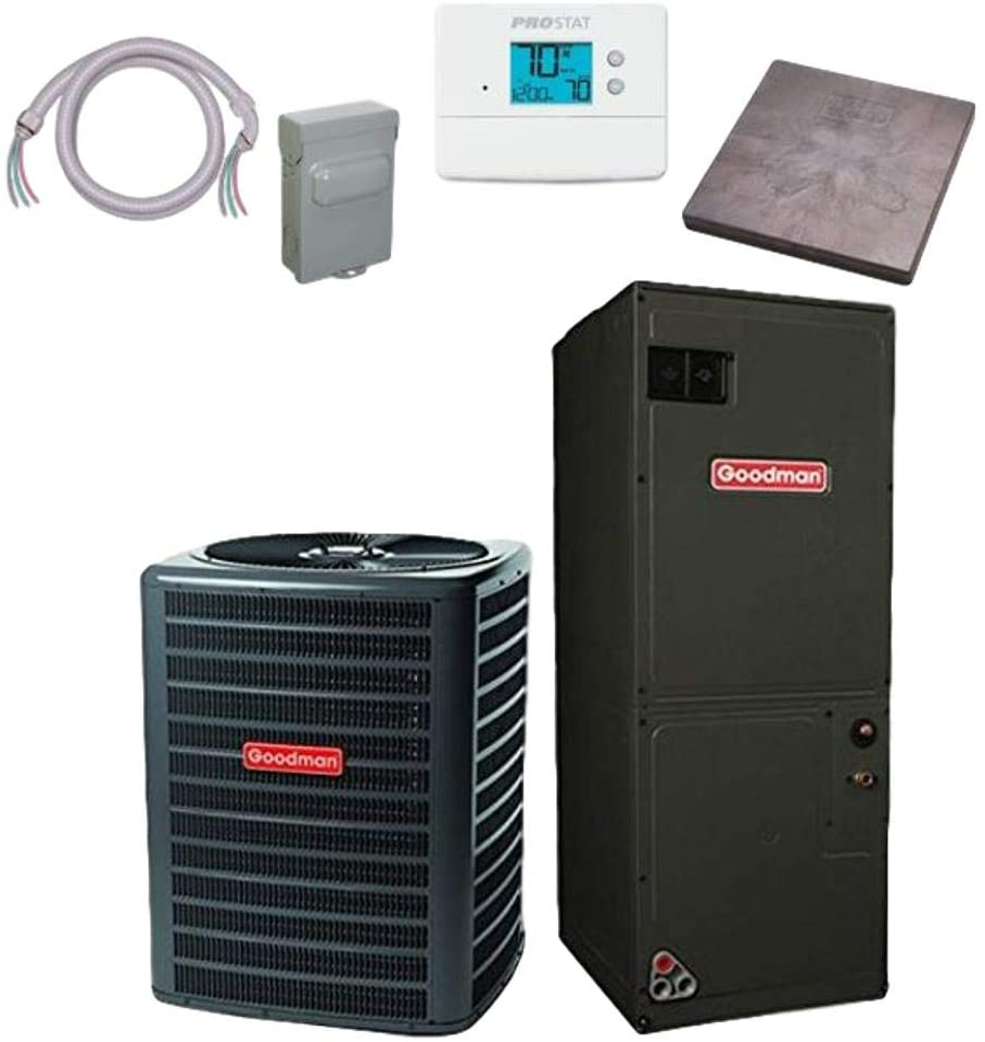Goodman 2 TON 16 SEER Air Conditioner bundle ASPT29B1 Popular popular Limited time trial price GSX160241