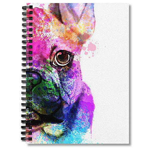 Spiral Notebook French Bulldog Watercolor French Bulldog Painting French Bulld Composition Notebooks Journal With Premium Thick Lined Paper