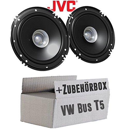 VW Bus T5 Front - Lautsprecher Boxen JVC CS-J610X - 16cm Auto Einbauzubehör 300Watt Koaxe KFZ PKW Paar - Einbauset