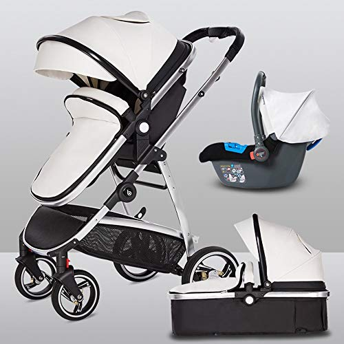 Great Price! HELIn Baby Carriage - Baby Stroller 180° Rotation Function Lightweight Convertible Rec...