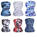 Fashion Face Dust Mask (6 PCS) Bandanas Sports & Casual Headwear Seamless Neck Gaiter, Headwrap, Balaclava, Helmet Liner by nicebaby