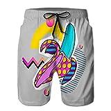 Mens Surf Fashion Swim Trunk Watershort Pants Summer Party Poster Pattern Set GE