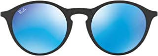 Kính mắt cao cấp nam – RB4243L Round Sunglasses, Rubber