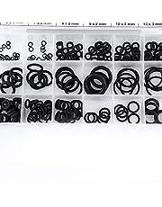 Surtido de juntas tóricas, 18 tipos Juego de juntas tóricas de goma La arandela de anillo sella el conjunto de surtido de juntas con caja