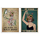 Mental Be Kind To Your Mind Poster Psychische Gesundheit