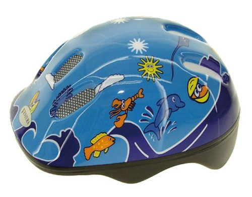 M-Wave Kinder Fahrradhelm Sea World, blau, 52-56 cm